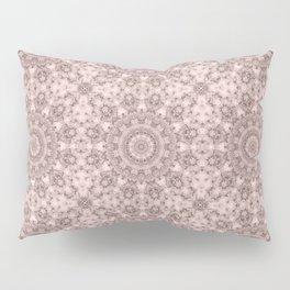 Pink marble kaleidoscope, ornament elements print Pillow Sham
