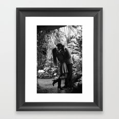 Kissing in the Climatron Framed Art Print