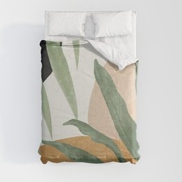 Abstract Art Tropical Leaves 4 Comforters