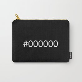 #000000 Black Carry-All Pouch