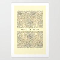 joy division Art Prints featuring joy division by ░░░░░░░░░░░░