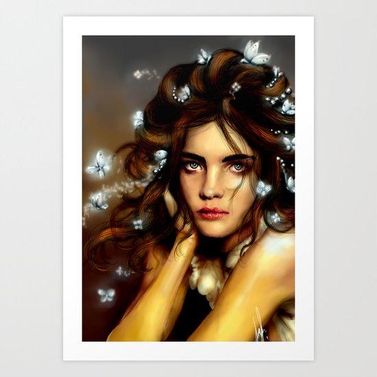 Natalia´s hair Butterflys  Art Print