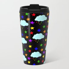 I wish it could rain colors Metal Travel Mug