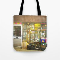 record Tote Bags featuring Record Store by Cassia Beck