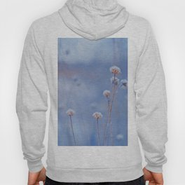 Wild White Flowers Against A Purple Background Hoody