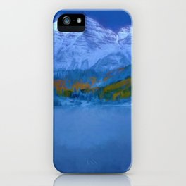 Maroon Bells Early Morning Abstract iPhone Case