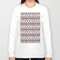 ikat Long Sleeve T-shirts featuring Soul Ikat by Melodie Ray Designs