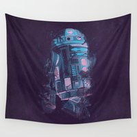 r2d2 Wall Tapestries featuring R2D2 by Sitchko Igor