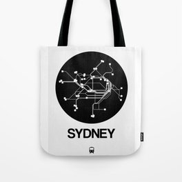 Sydney Black Subway Map Tote Bag