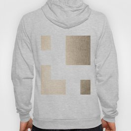 Simply Geometric in White Gold Sands on White Hoody