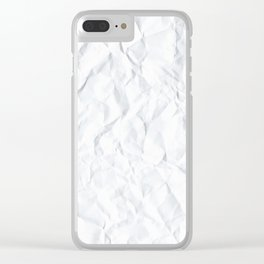 Crumpled Clear iPhone Case