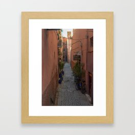 To the Riad (Marrakech) Framed Art Print