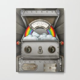 Robot suggests you let it shine. Metal Print