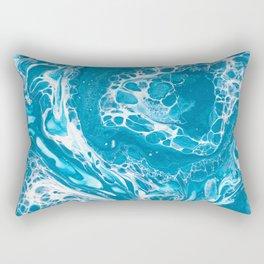 Frozen Currents Rectangular Pillow