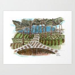 Meandering Landscapes: Swirling Around (BP) Art Print