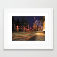 revolution Framed Art Prints featuring Revolution by Stacey Cat