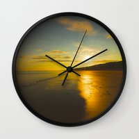 sunrise Wall Clocks featuring Sunrise by Peaky40