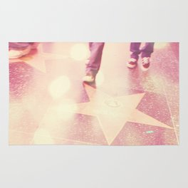 Hollywood Los Angeles photograph. Star Gazing. Rug