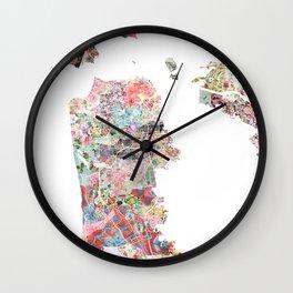 San Francisco map Wall Clock