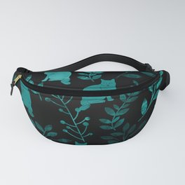 Watercolor Floral and Cat IV Fanny Pack