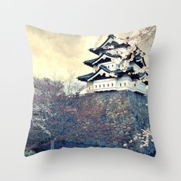 Spectacular Historic Castle East Asia UHD Throw Pillow