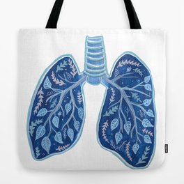Botanical Lungs - Breathe Deep  Tote Bag