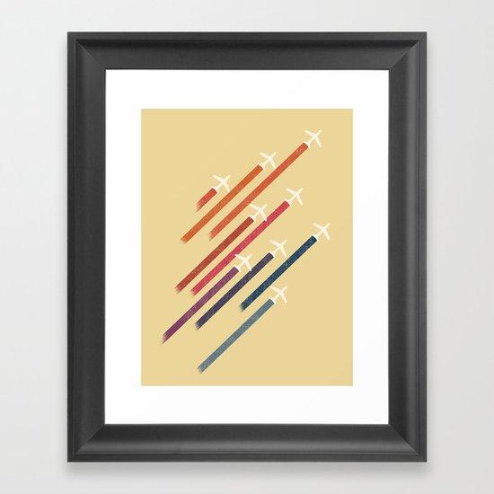 Aerial display (ver.2) Framed Art Print