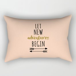 New Adventures Travel Quote Rectangular Pillow