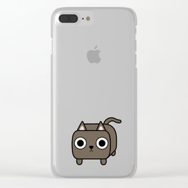 Cat Loaf - Brown Kitty Clear iPhone Case