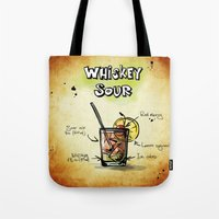 whiskey Tote Bags featuring Whiskey Sour by jamfoto