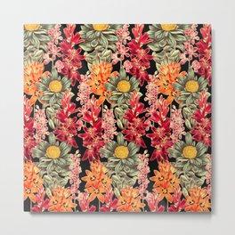 Dark Bloom Collage Metal Print