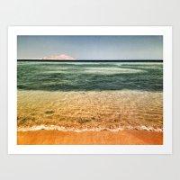 Layers/ Red Sea Art Print