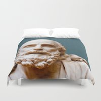 philosophy Duvet Covers featuring Philosophy of Pleasure by youngkinderhook