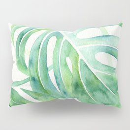Monstera Leaf Pattern Pillow Sham