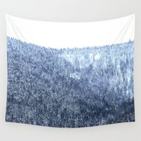 blanket Wall Tapestries featuring Snow blanket by Tarraf Photography