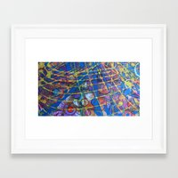grid Framed Art Prints featuring Grid by Heather Plewes Art