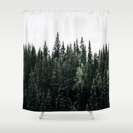 Forest Print Shower Curtain