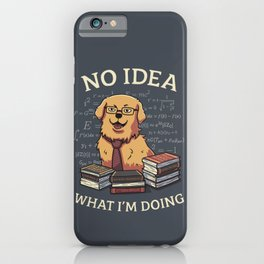 No Idea What Im Doing // Golden Retriever, Smart Doggo, Scientist iPhone Case
