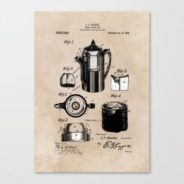 patent China Coffee pot - Blanke - 1909 Canvas Print