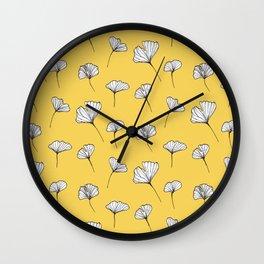 Ginkgo Biloba Leaves Pattern #society6 #decor #buyart Wall Clock