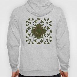 """Autumn mandala"" (Green-Grey Pattern) Hoody"