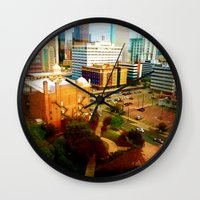 denver Wall Clocks featuring Denver by Stolen Milk