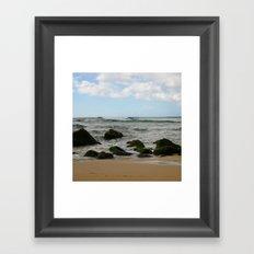 Oahu: Some Rocks Framed Art Print