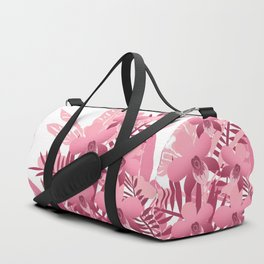 Bouquet of pink tropical plants Duffle Bag