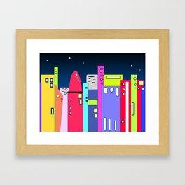 Space City Framed Art Print