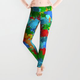 Multicolored splashes Leggings
