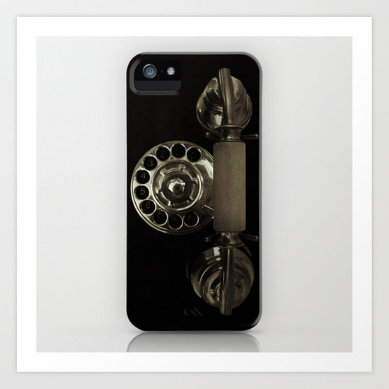 Old rotary dial phone Art Print