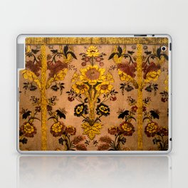 Golden Floral Tapestry Laptop & iPad Skin