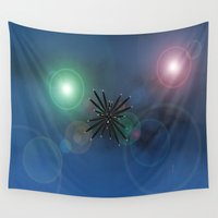 outer space Wall Tapestries featuring Bugs in outer space.... by Cherie DeBevoise