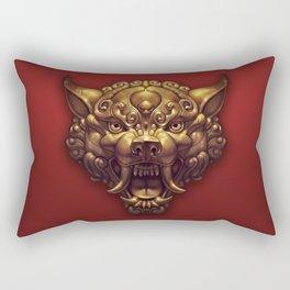 Foo Wolf Red Rectangular Pillow